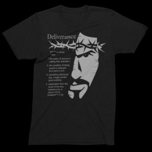 """""""Definition of Deliverance"""" men's T-shirt Black/Lt. Gray"""